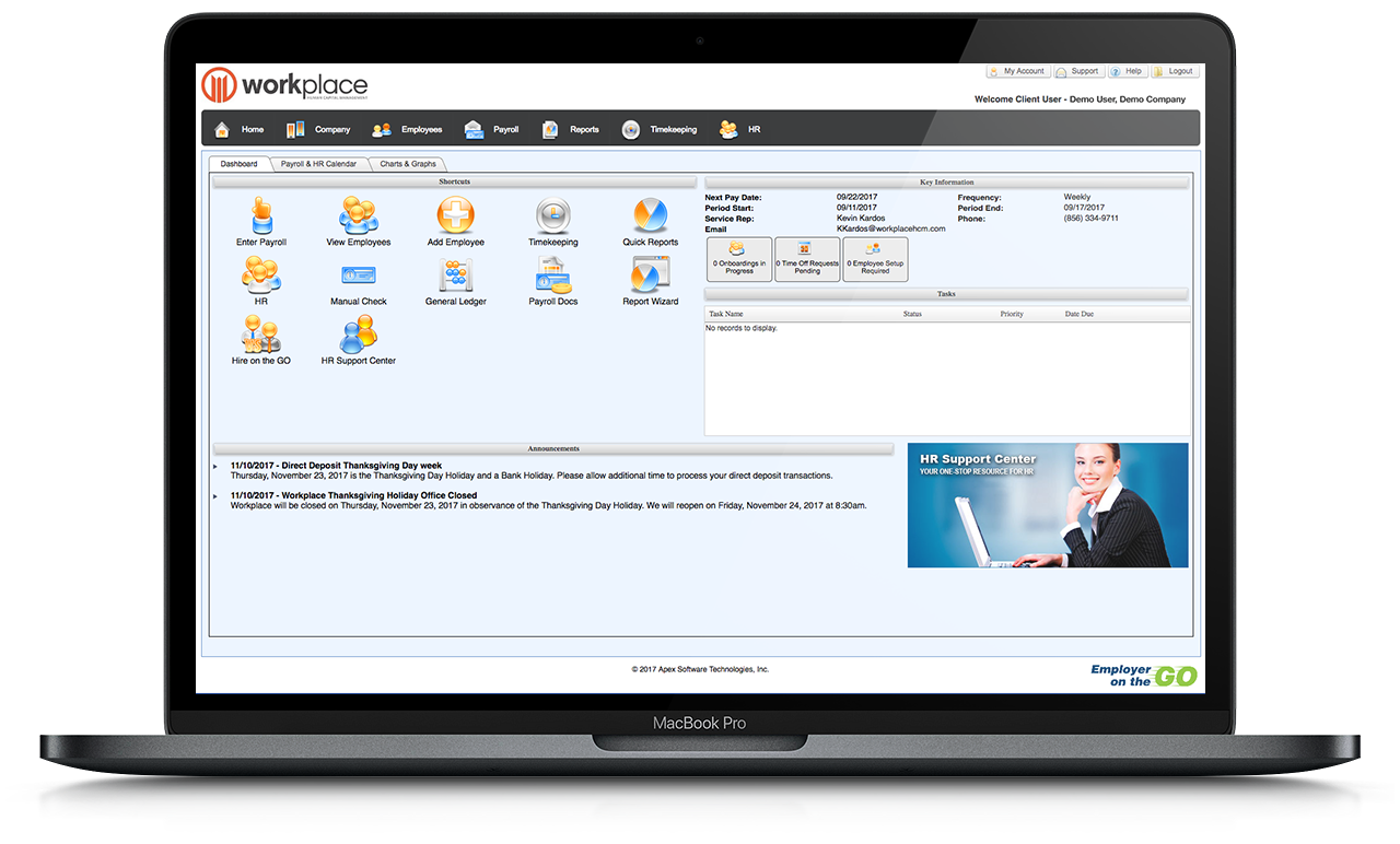 Employer on the Go Dashboard | Workplace HCM
